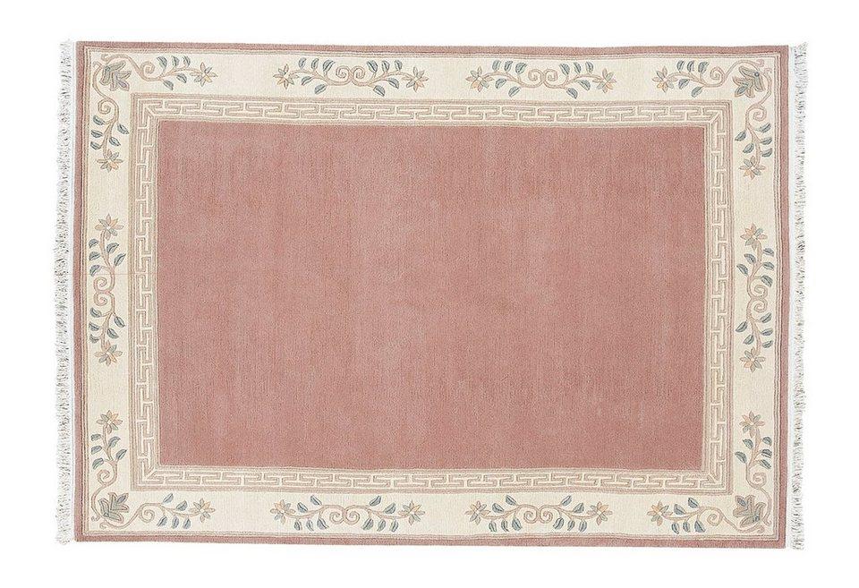 Orient-Teppich, Luxor Living, »Adour«, handgeknüpft, reine Schurwolle in altorose