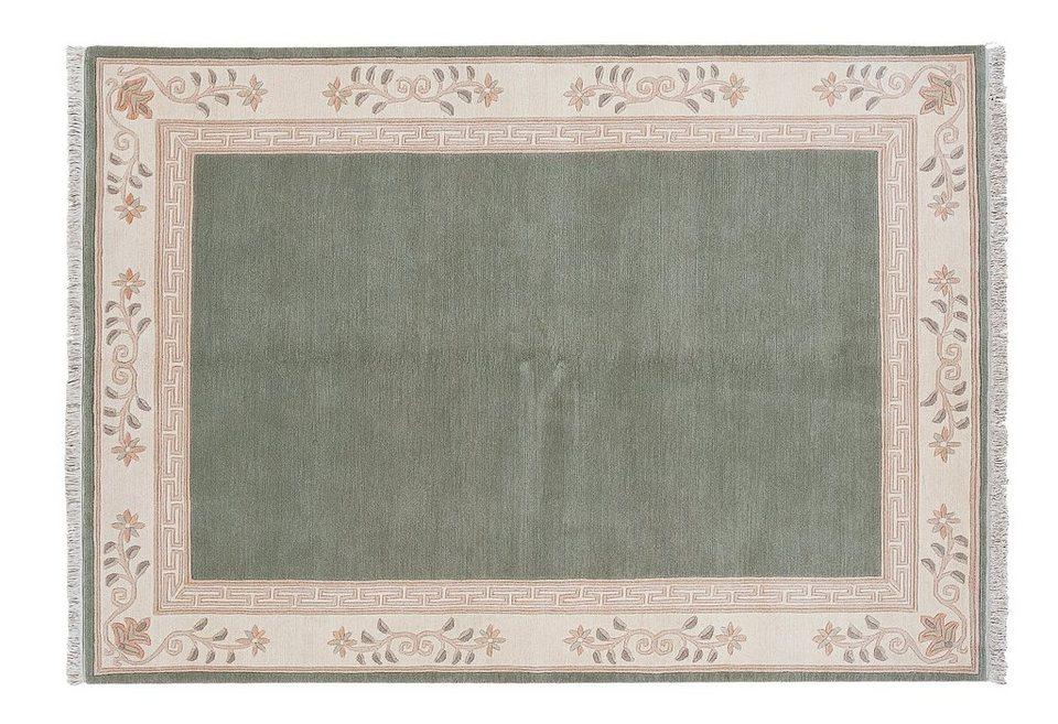 Orient-Teppich, Luxor Living, »Adour«, handgeknüpft, reine Schurwolle in grün