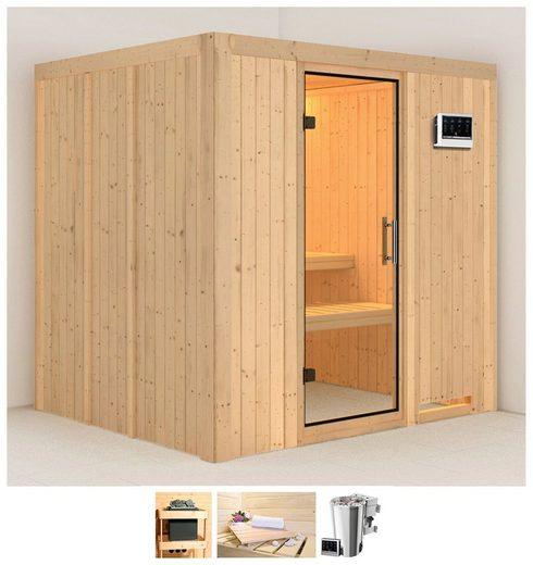 KARIBU Sauna »Daria«, 196x170x198 cm, 3,6 kW Plug & Play Bio-Ofen mit ext. Strg.