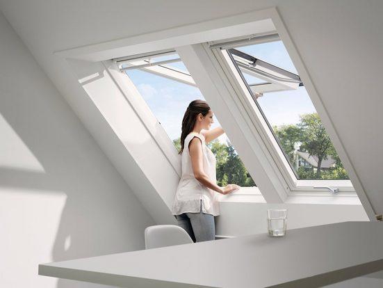 VELUX Dachfenster »FK06«, Klapp- Schwingfenster, BxH: 66x118 cm