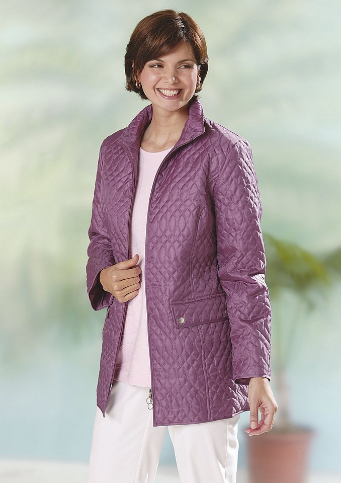 Classic Basics Steppjacke in Microfaserqualität in flieder