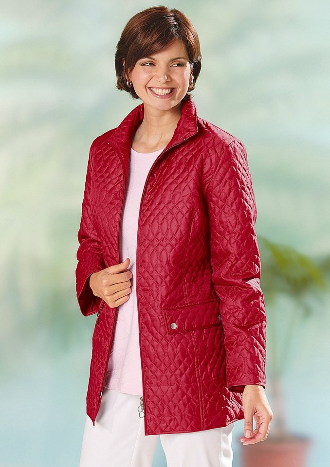 Classic Basics Steppjacke in Microfaserqualität in rot