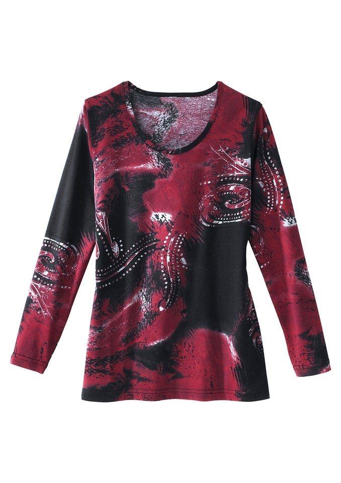 Classic Basics Shirt in hautsympathischer Qualität in rot-bedruckt