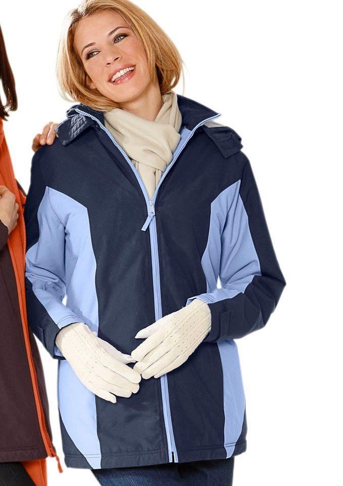 Classic Basics Jacke aus wind- und wasserabweisender Microfaser in marine-bleu