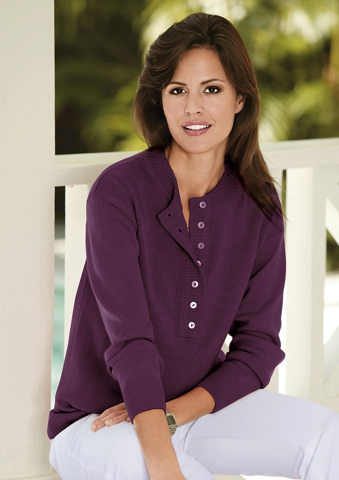 Classic Basics Pullover in pflegeleichter Qualität in flieder