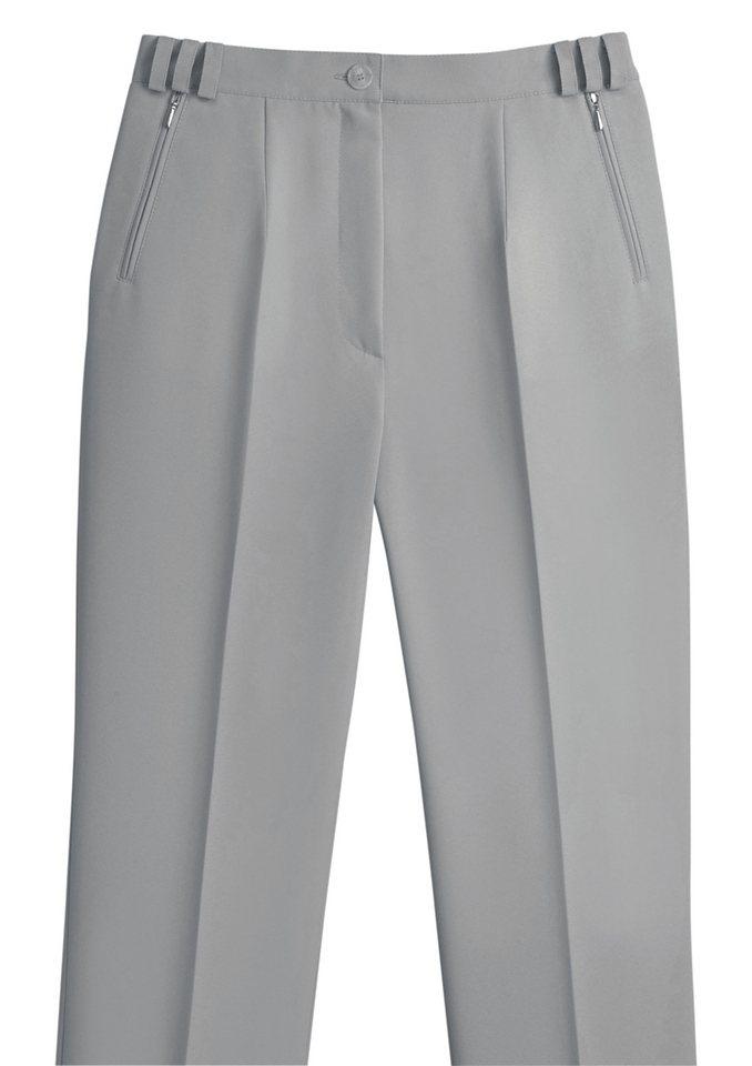 Classic Basics Hose mit bequemer Taillenweite in hellgrau
