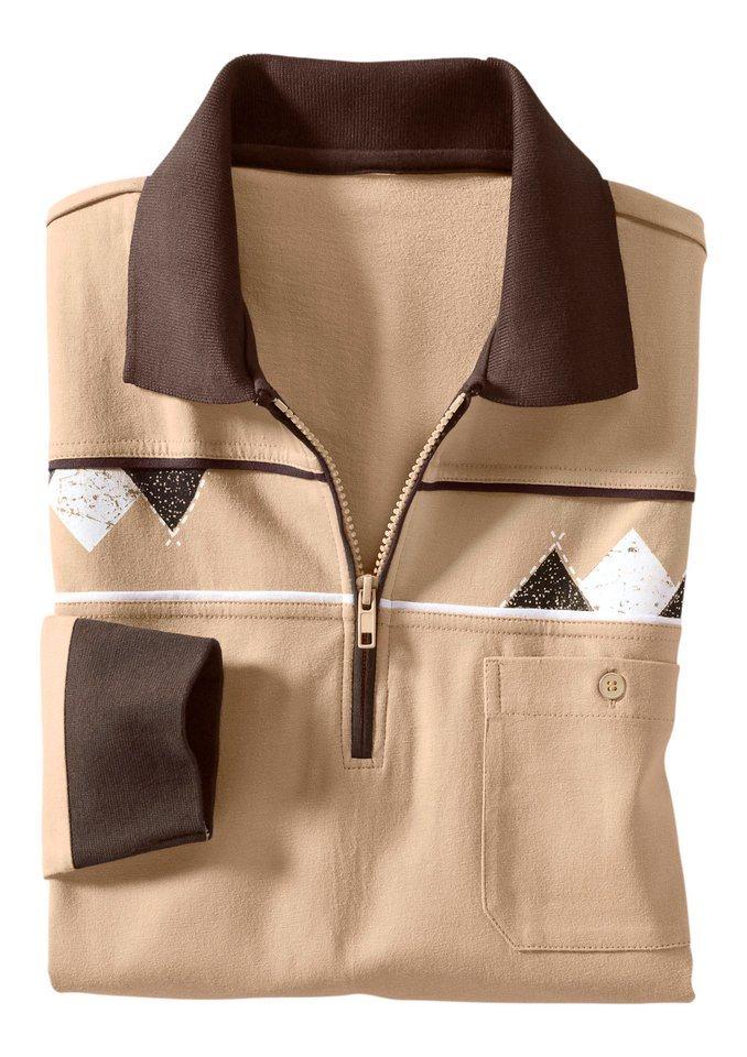 Classic Basics Poloshirt aus reiner Baumwolle in beige