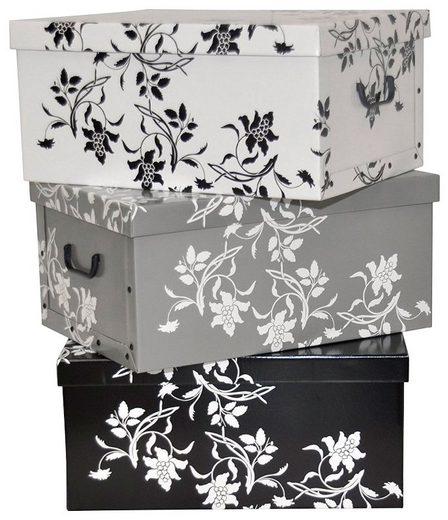Kreher Aufbewahrungsbox »Barock Blumen« (Set, 3 Stück)