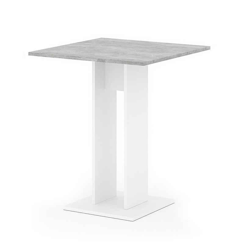 Vicco Säulen-Esstisch »Esstisch EWERT Küchentisch Esszimmer Tisch Säulentisch weiß beton 65x65 cm«