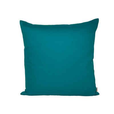 beties Kissenbezug »Farbenspiel«, ca. 40x40 cm Kissenbezug in interessanter Größen- und Farbauswahl 100% Baumwolle für eine fröhlich Stimmung Uni Farbe (Petrol)