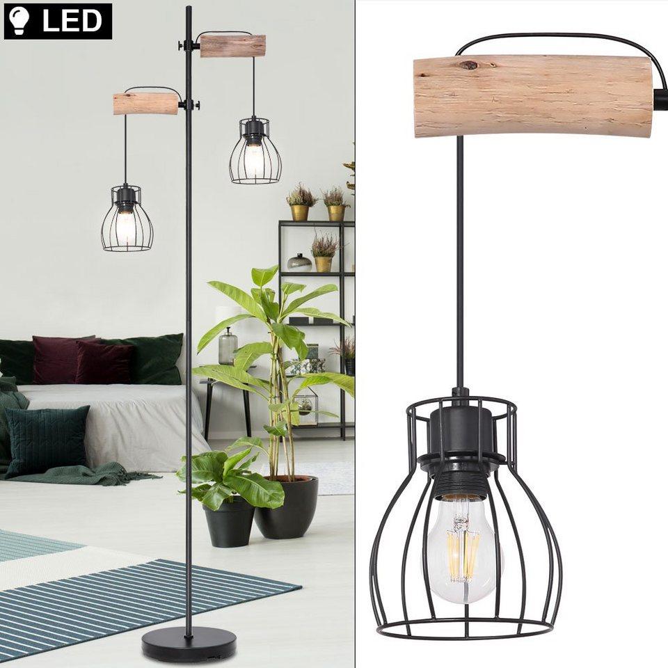 LED Vintage Steh Lampe Wohn Zimmer Beleuchtung Stand Leuchte Spots verstellbar