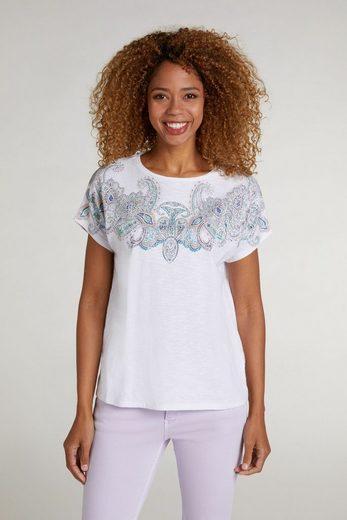 Oui T-Shirt »T-Shirt mit Paisleymuster«