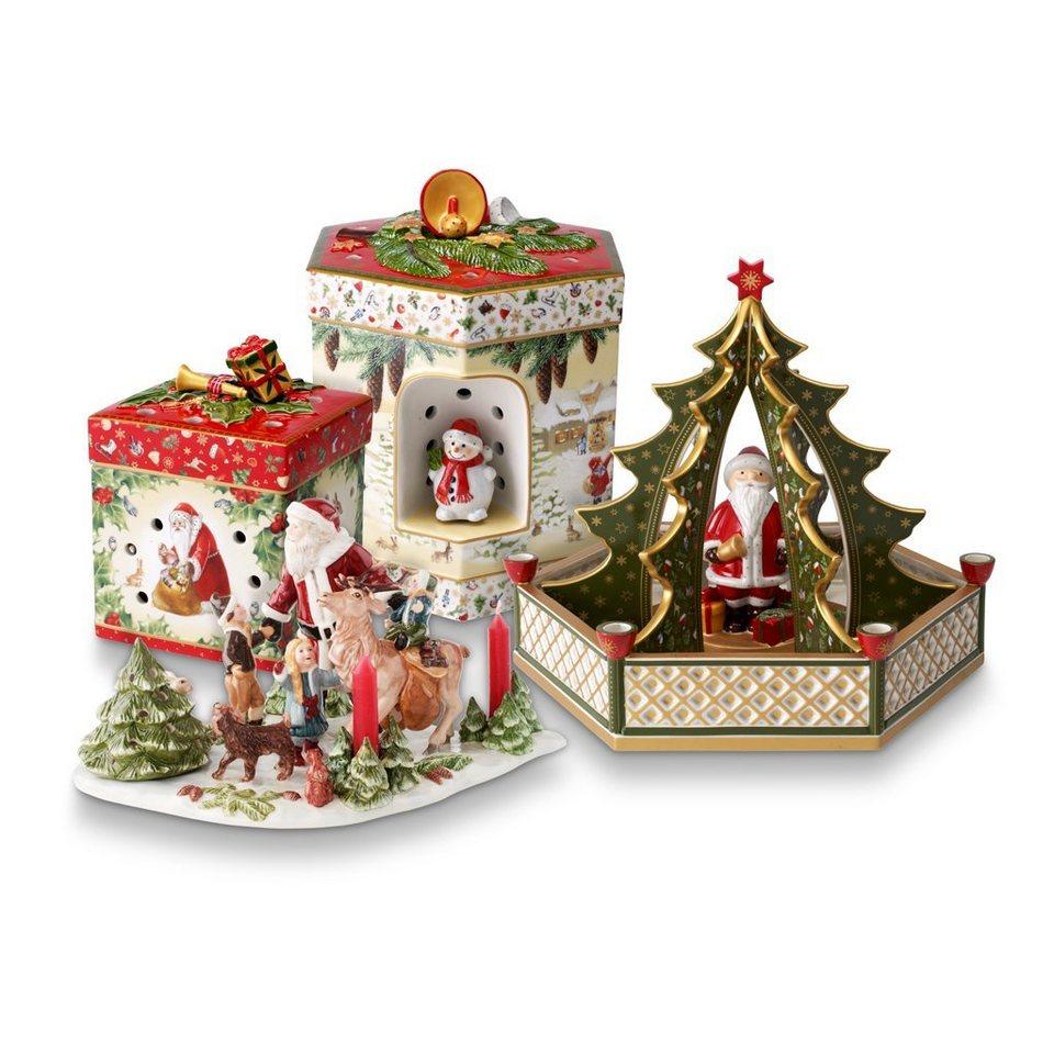 VILLEROY & BOCH Szene Santa mit Kindern 15x15x17cm »Christmas Toys« in Dekoriert
