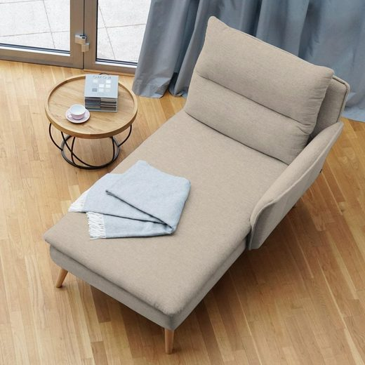 PLACE TO BE. Recamiere, Recamiere Ottomane Chaiselongue Sitzbank Polsterbank Tagesbett Daybed mit Armlehne rechts