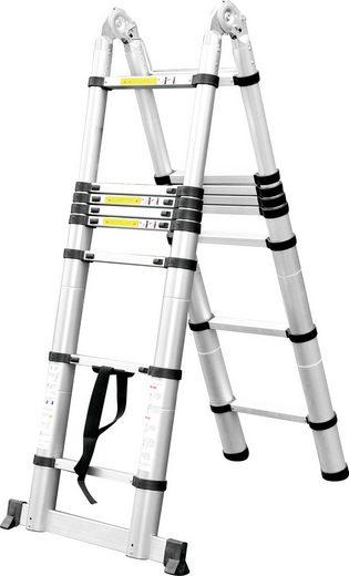 CRAFTFULL Teleskopleiter »Alu Klapp- und Anlegeleiter «, 2 x 2,2 m (Total 4.4 m)
