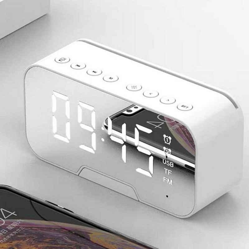 Gotui Funkwecker »Digitaler Wecker« Bluetooth Wecker Mit Radio LED Spiegel