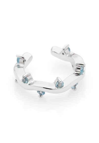 Carolin Stone Jewellery Ohrklemme »Cit'azone light blue - Ear cuff Topas Silber«