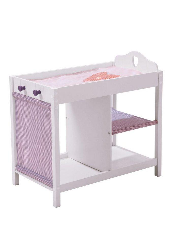 puppenkommode roba wei lila online kaufen otto. Black Bedroom Furniture Sets. Home Design Ideas