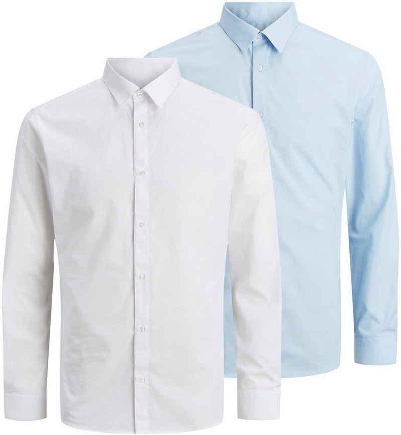 Jack & Jones Langarmhemd »JOE SHIRT LS 2 PACK« (Packung, 2er-Pack)