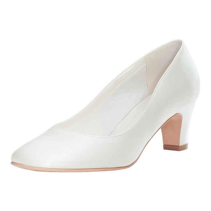 Bride Now! »Frauen Gepolsterte Braut Satin Hochzeit Gericht / Pumpe Elfenbein / Creme 6 cm Block Ferse Schuhe« Pumps