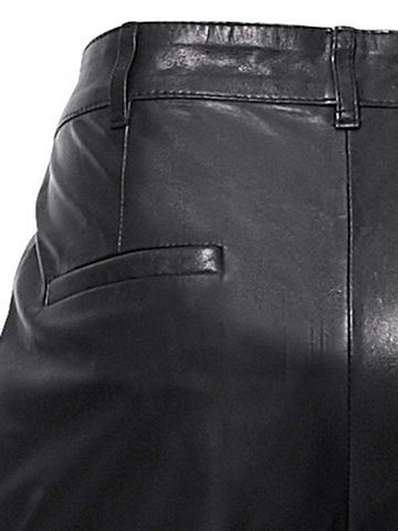 Ledershorts in schwarz