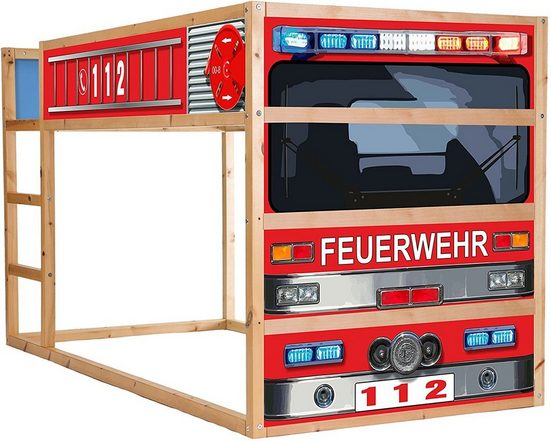 STIKKIPIX Möbelfolie »IM209«, Feuerwehrbett Möbelfolie selbstklebend/Aufkleber - passend für das Kinderzimmer Hochbett KURA von IKEA - Möbel Nicht Inklusive