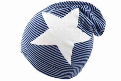 Sonia Originelli Beanie »Beanie Mütze für Baby und Kleinkind Streifen gestreift Stern maritim«