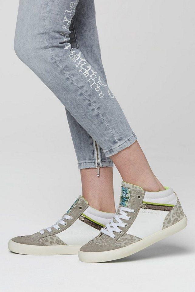 Sneakers - SOCCX Sneaker in Reptil Optik › weiß  - Onlineshop OTTO