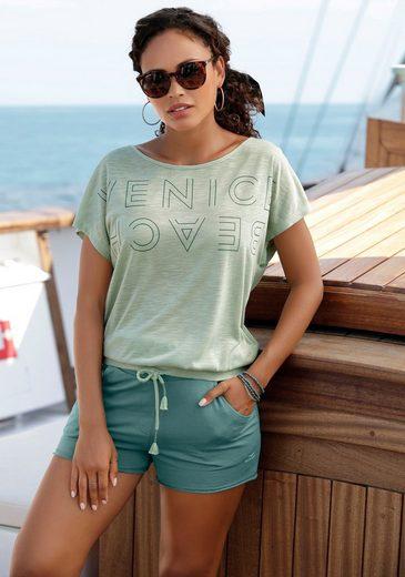 Venice Beach Rundhalsshirt mit Logoprint