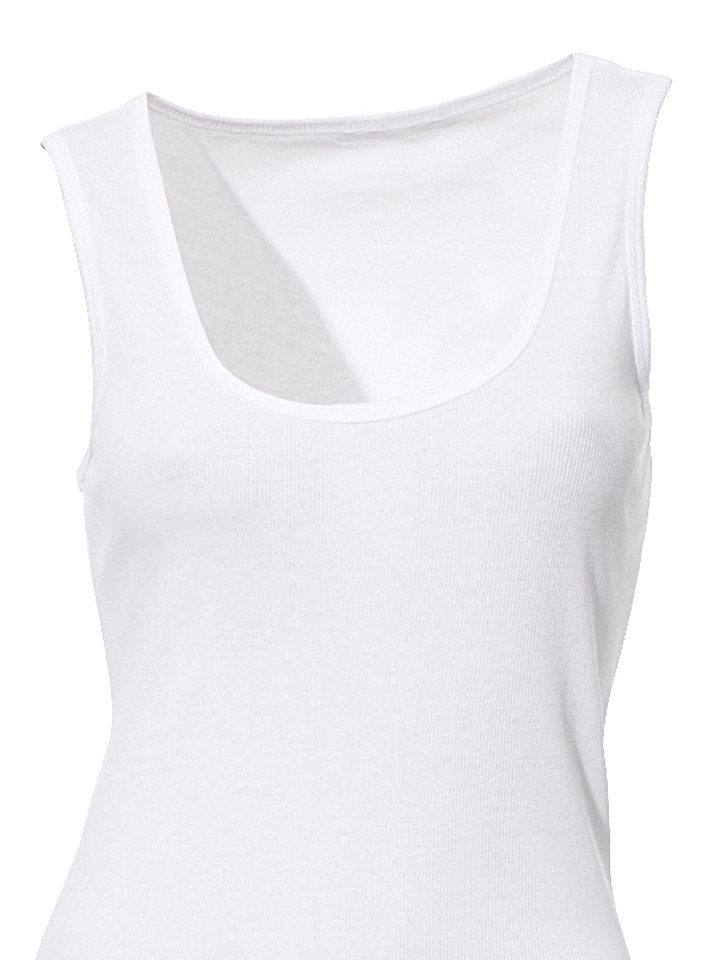B.C. BEST CONNECTIONS by Heine Shirttop leicht tailliert in weiß