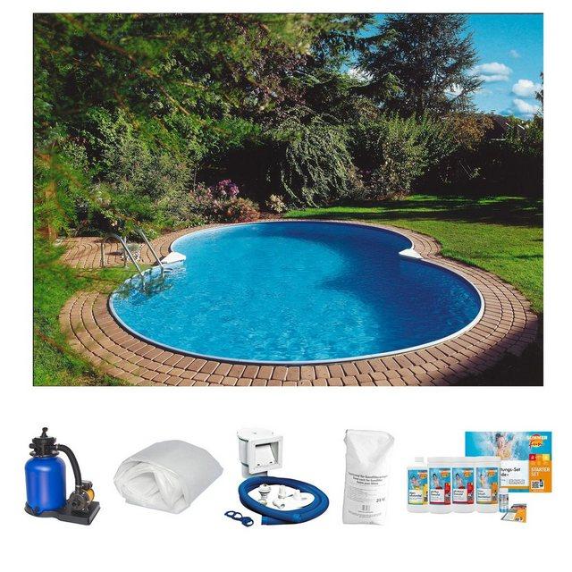 Clear Pool Set: Achtformpool Mallorca (6-tlg.)