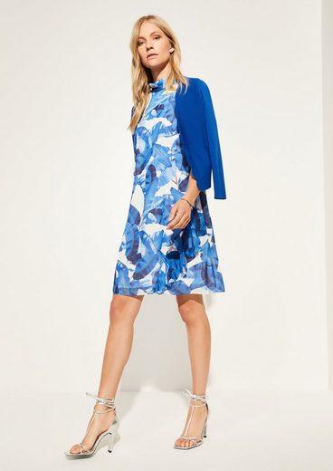 Comma Minikleid »Chiffon-Kleid mit Volants« Volants