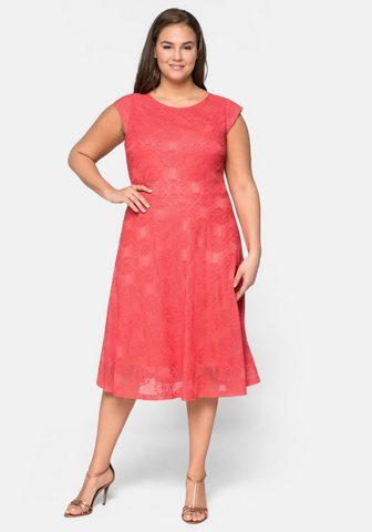 Sheego Nėriniuota suknelė iš elastingas Quali...