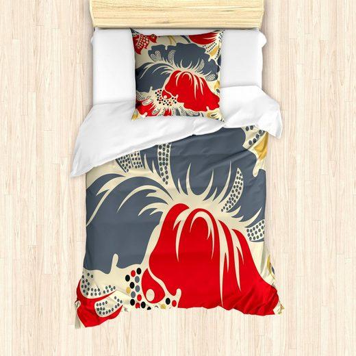 Bettwäsche »Milbensicher Allergiker geeignet mit Kissenbezug«, Abakuhaus, Jahrgang Abstrakt Chinese Floral