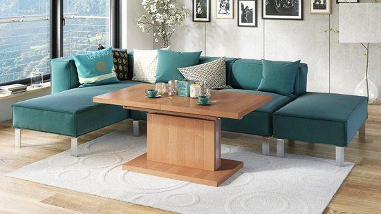 Mazzoni Couchtisch »Design Couchtisch Tisch Aston Erle stufenlos höhenverstellbar ausziehbar 120 bis 200cm Esstisch«