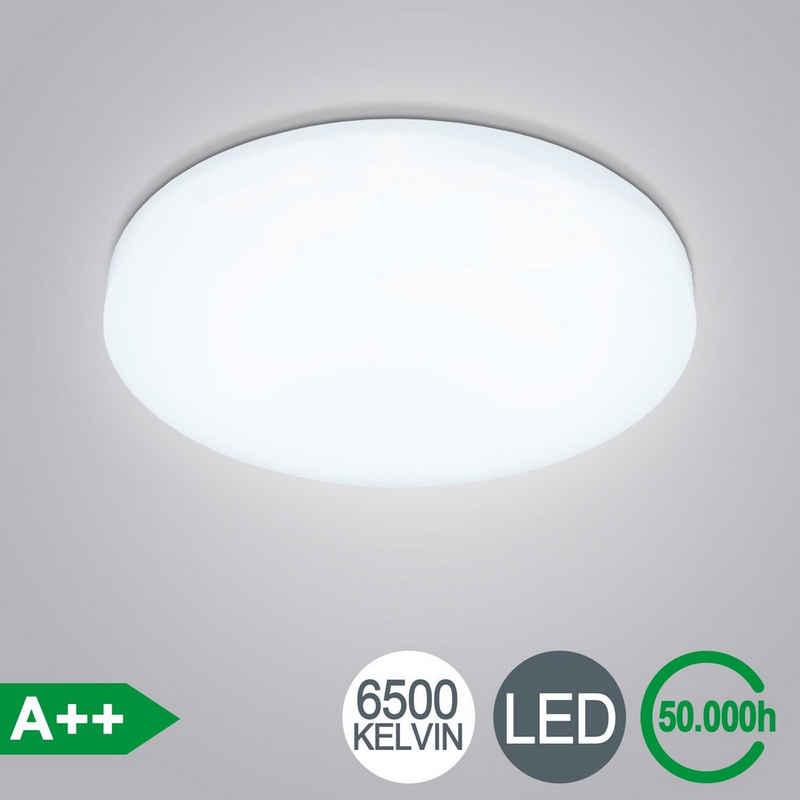 Einfeben LED Deckenleuchte »LED Deckenlampe 12W Bad-Lampen IP44 Badezimmer-Leuchte Deckenleuchte Küche Flur Kaltweiß«, Haingeleuchte, Haingelampe, Deckenlampe, LED Deckenlampe, LED Deckenleuchte, LED Deckenlampe, Pendelleuchte, Pendellampe