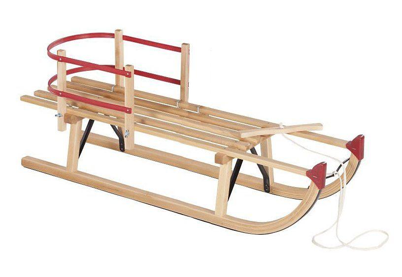 Dein Spielplatz Schlitten mit Rückenlehne und Zugseil »Davoser«