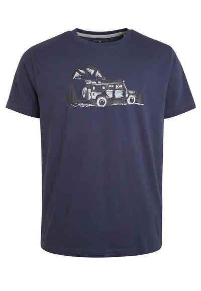 Elkline T-Shirt »Beside Mainstream« Auto Brust Print auf Bio Baumwolle