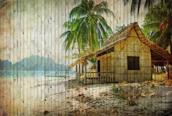 living walls Fototapete »Walls by Patel Tahiti 1«, glatt, (4 St)