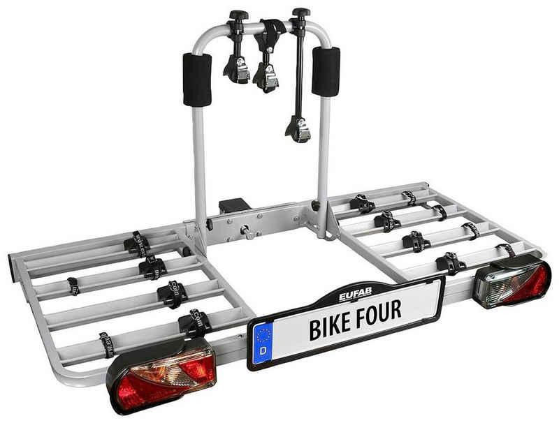 EUFAB Kupplungsfahrradträger »BIKE FOUR«, für max. 4 Räder