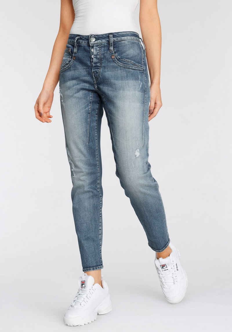 Herrlicher 7/8-Jeans »SHYRA ORGANIC CROPPED« mit Destroyed Effekten