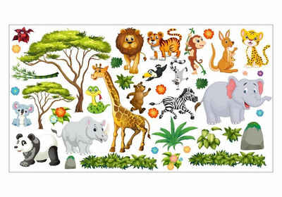 nikima Wandtattoo »060 Wandtattoo Dschungel Tiere«