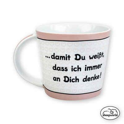 "Sheepworld Tasse »Sheepworld - Tasse ""... immer an Dich denke!"" Klein 0,33l Kaffeetasse (42690)«"
