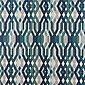 Vorhang »SCHÖNER LEBEN. Vorhang Vorhangschal mit Smok-Schlaufenband Retro-Linien blau 245cm oder Wunschlänge«, SCHÖNER LEBEN., (1 Stück), Bild 5