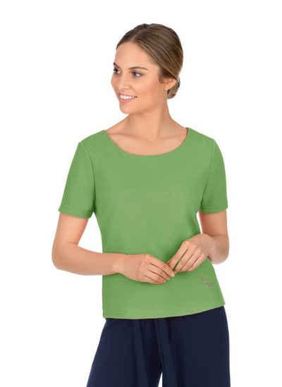 Trigema Sweatshirt mit kurzen Ärmeln mit Kristallen von Swarovski