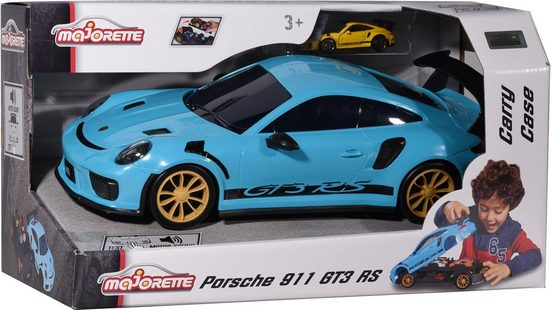 majORETTE Spielzeug-Auto »Porsche 911 GT3 RS - Carry Case«, inkl. Mini-Auto