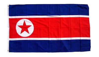 trends4cents Flagge »Flagge 90 x 150 cm Hissfahne Bundesland Sturmflagge Hissfahne« (Nordkorea), für Fahnenmaste