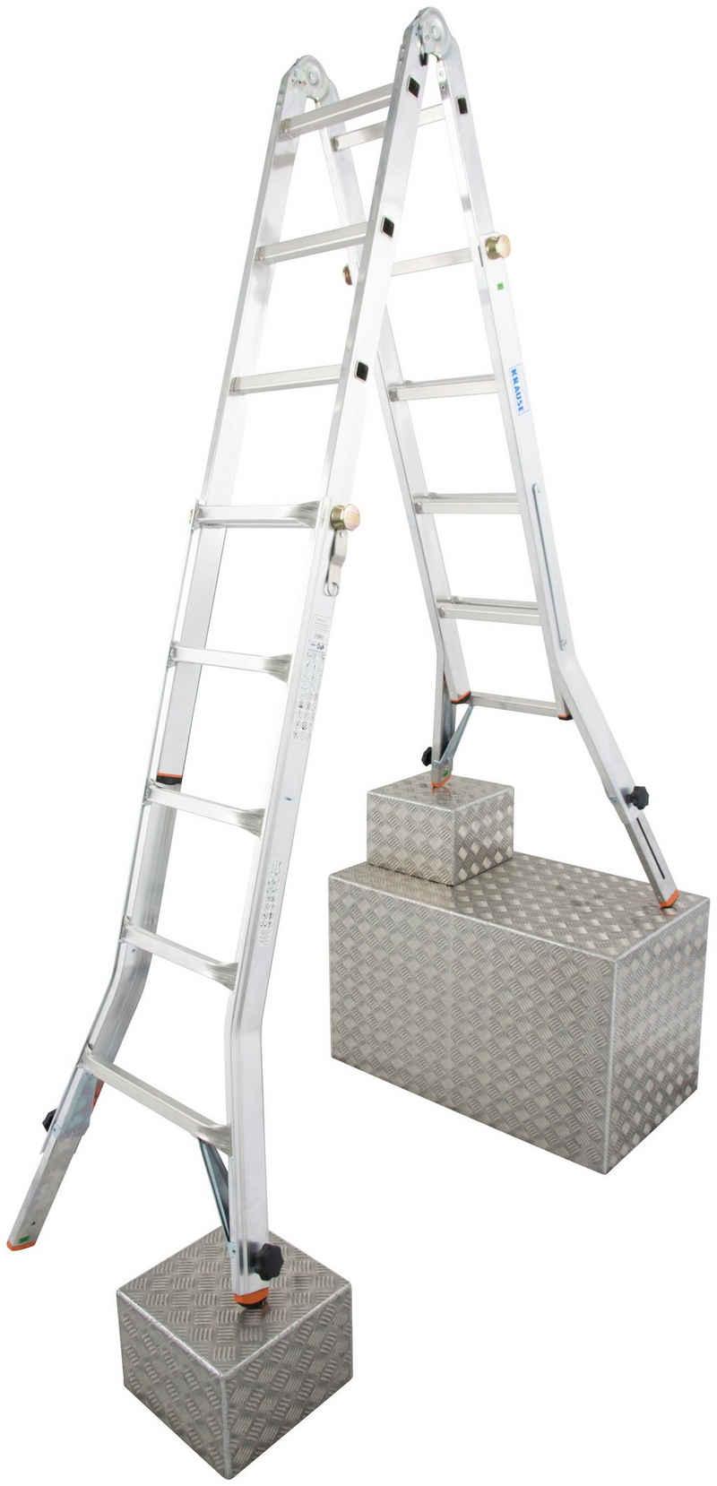 KRAUSE Gelenkleiter »TeleVario«, Alu, 4x5 Sprossen, Arbeitshöhe ca. 606 cm