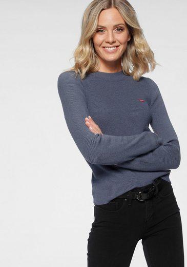Levi's® Strickpullover »Crew Rib Sweater« mit Batwing Logo