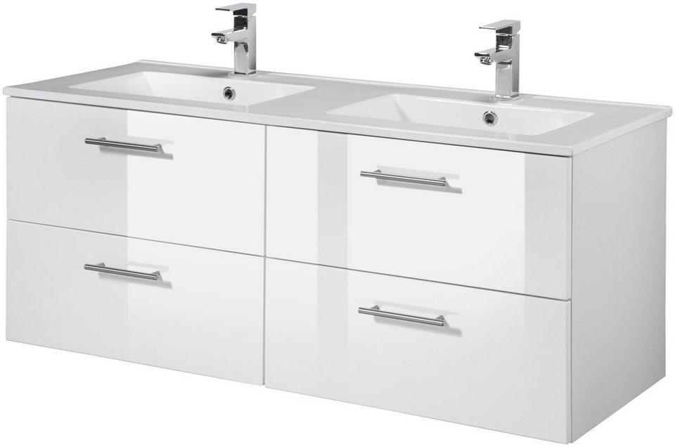 Waschtisch »Trento«, Breite 120 cm, Doppelwaschtisch & Doppelwaschbecken,  2-tlg. online kaufen | OTTO